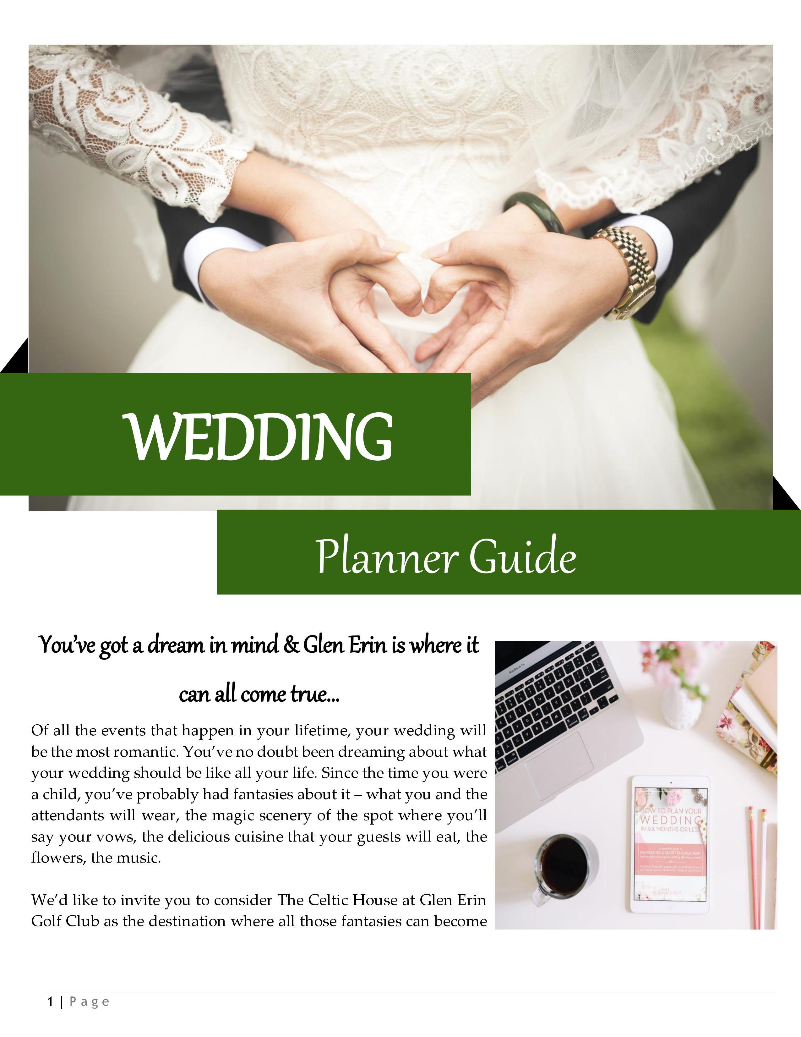 Wedding Planner Guide Cover Page